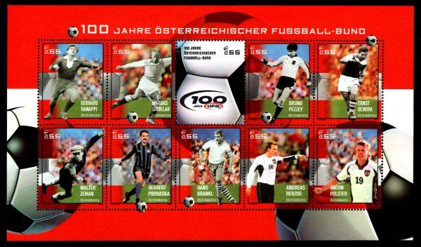 Österr KLBG 100 Jahre Österr Fußballbund Michel-Nr 2460-2469