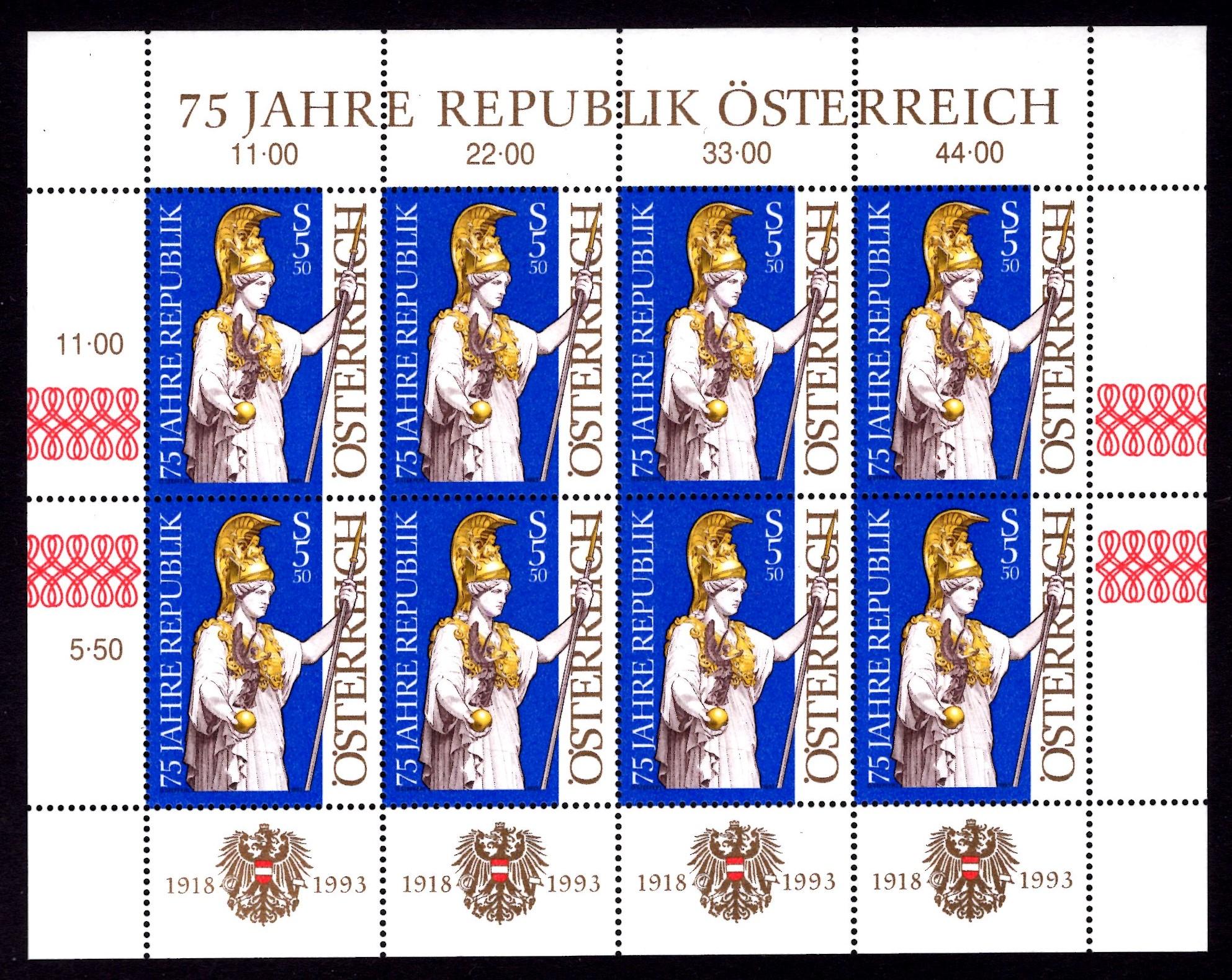 Österr KLBG 75 Jahre Österreich Michel-Nr 2113