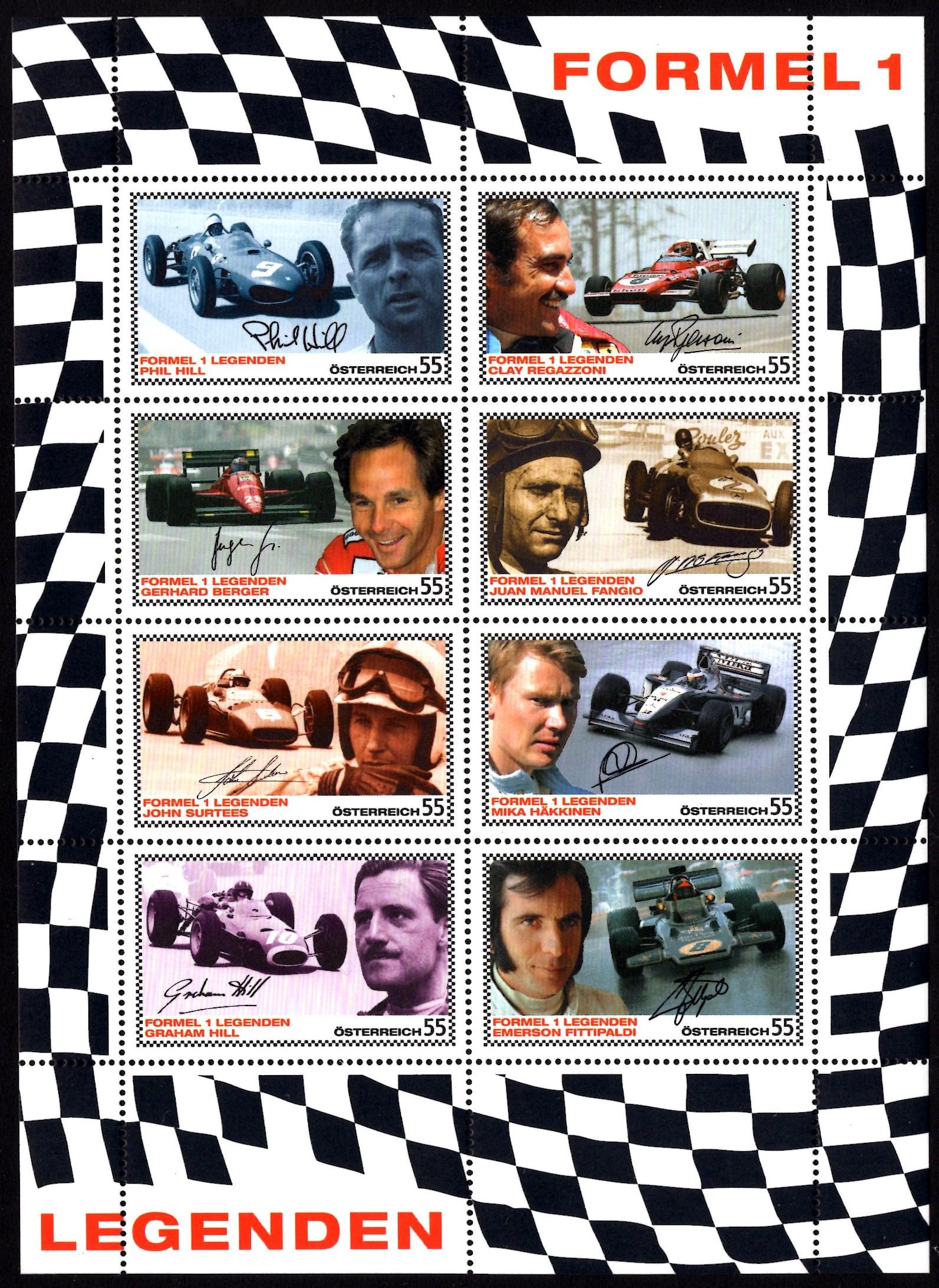 Österr KLBG Formel 1 Rennfahrer Michel-Nr 2654-61