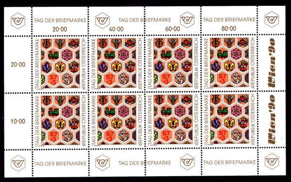 Österr KLBG Tag der Briefmarke 1990 Michel-Nr 1990