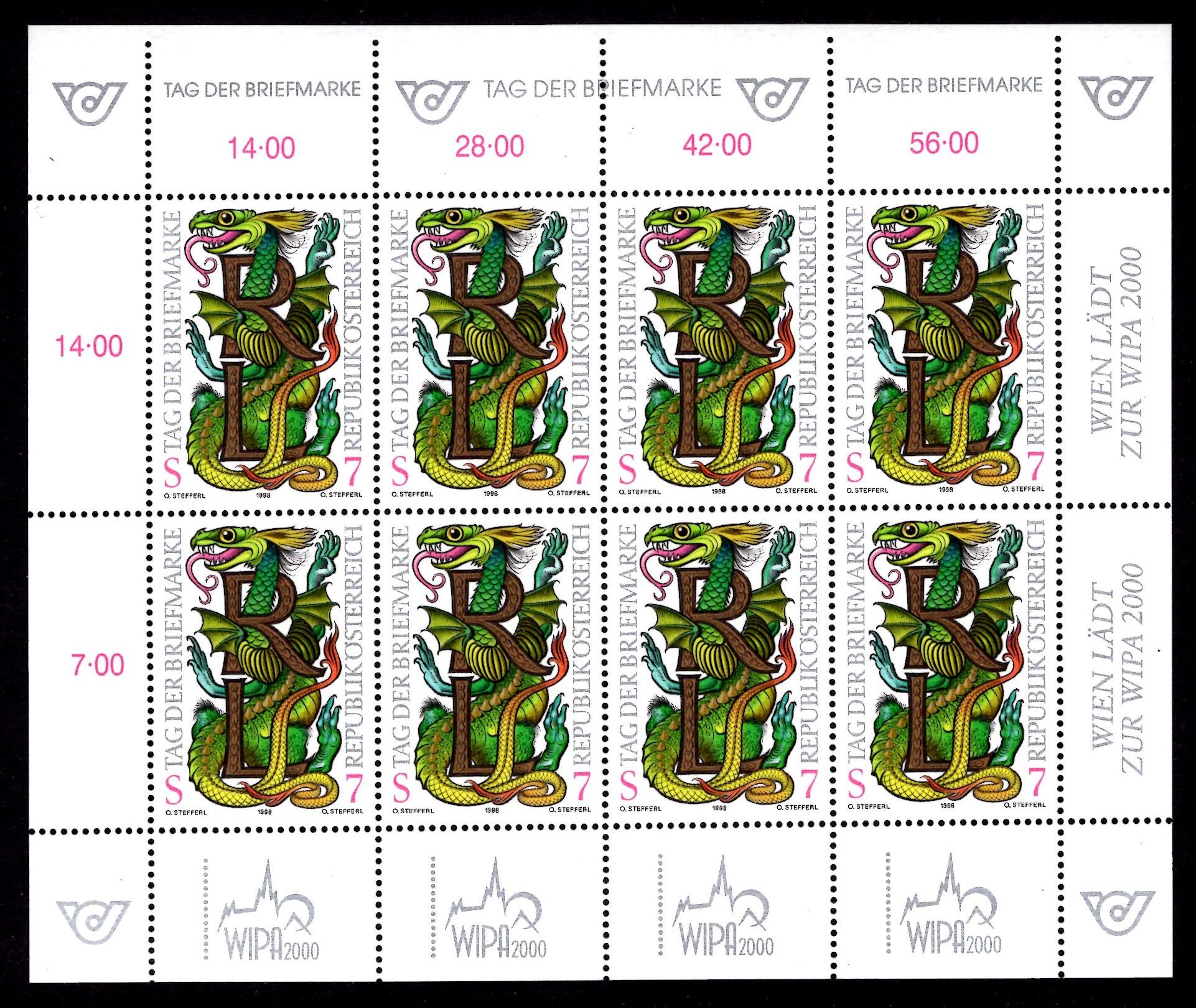Österr KLBG Tag der Briefmarke 1998 Michel-Nr 2260