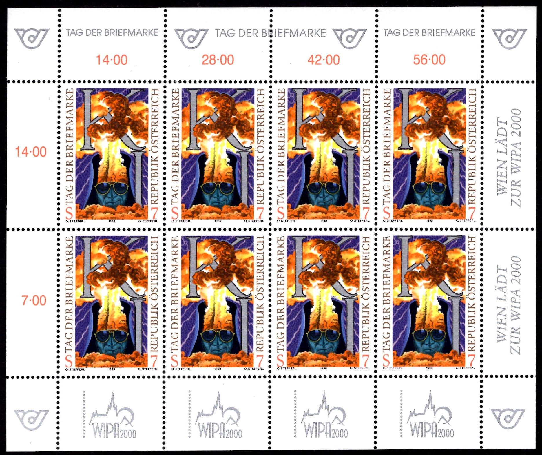 Österr KLBG Tag der Briefmarke 1999 Michel-Nr 2289