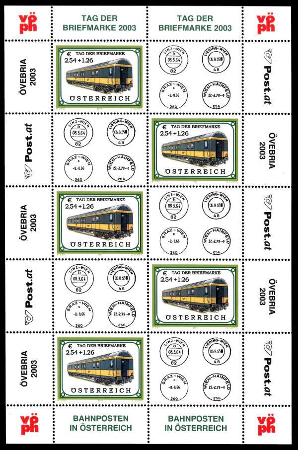 Österr KLBG Tag der Briefmarke 2003 Michel-Nr 2414