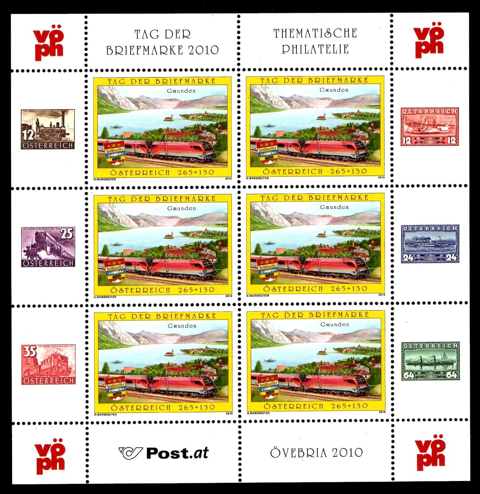 Österr KLBG Tag der Briefmarke 2010 Michel-Nr 2887
