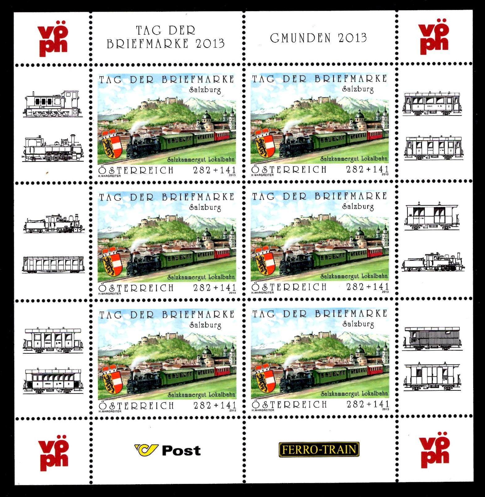 Österr KLBG Tag der Briefmarke 2013 Michel-Nr 3087