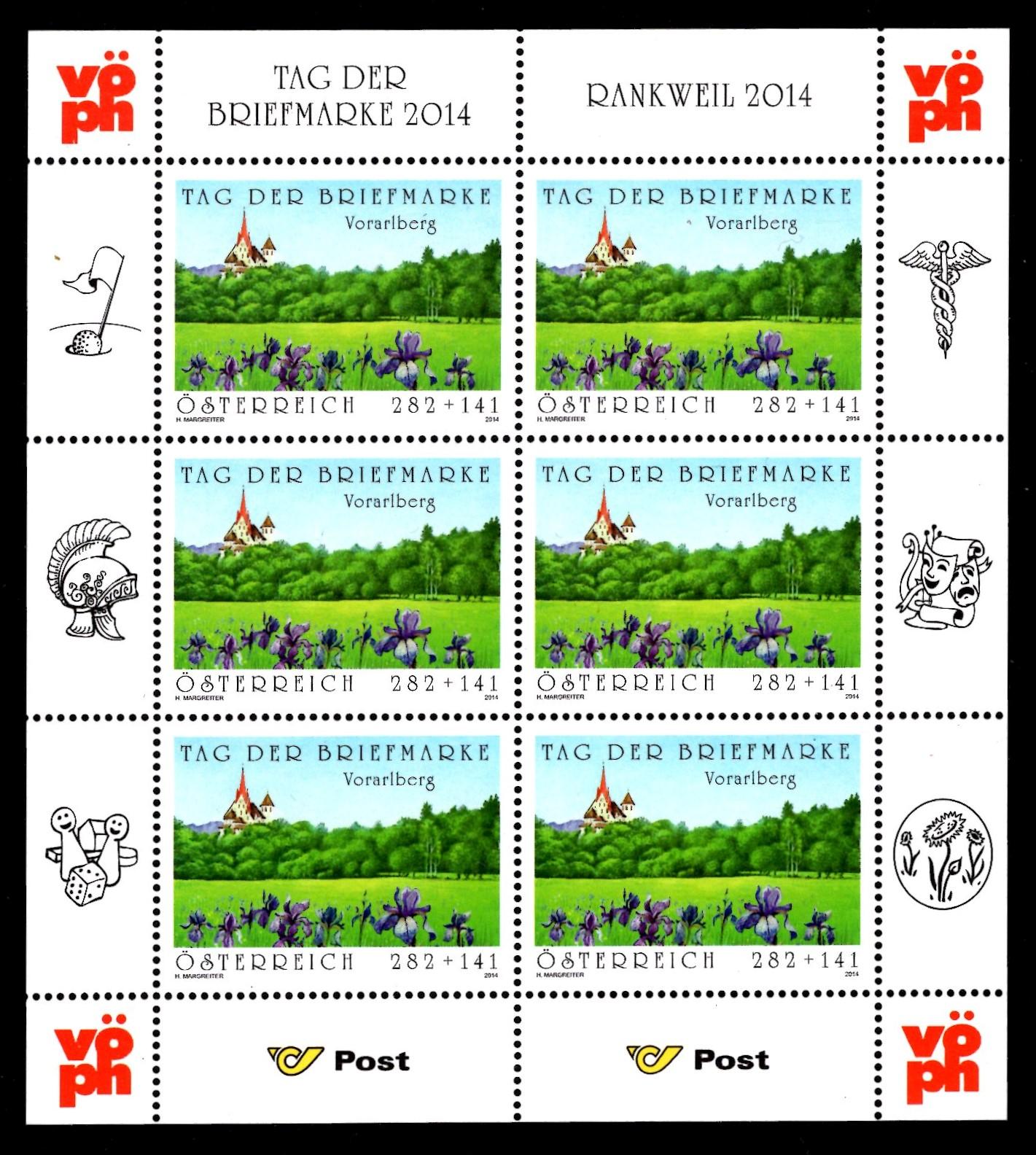 Österr KLBG Tag der Briefmarke 2014 Michel-Nr 3158