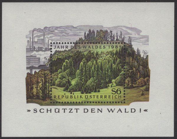 Österreich - Block 007 - postfrisch - Jahr des Waldes