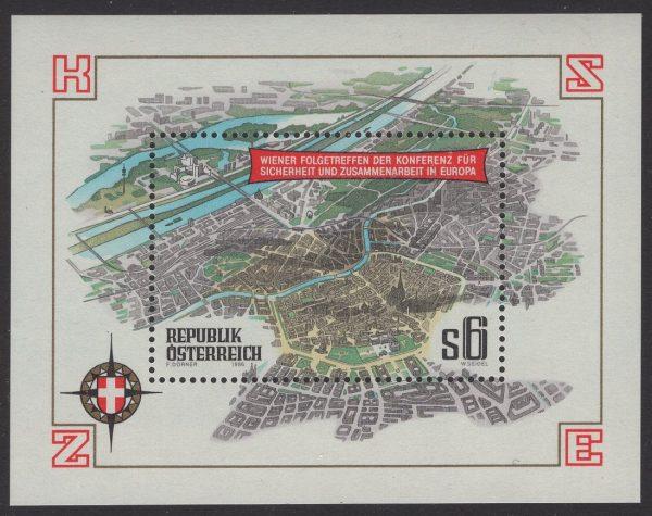 Österreich - Block 008 - postfrisch - KSZE Wien