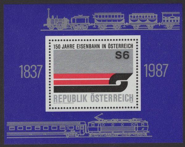 Österreich - Block 009 - postfrisch - 150 Jahre Eisenbahn