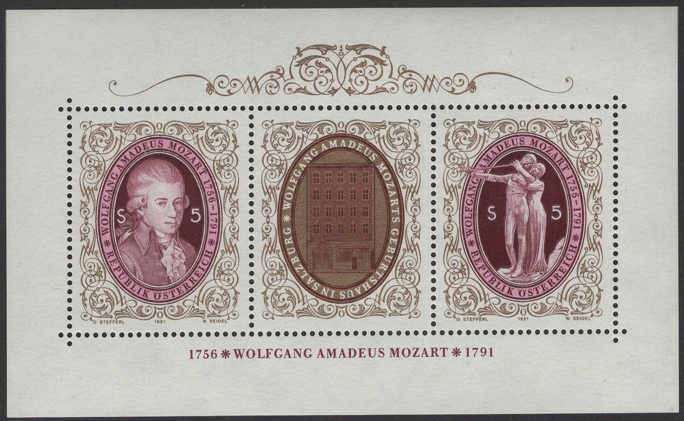 Österreich - Block 010 - postfrisch - 200 Todestag Mozart