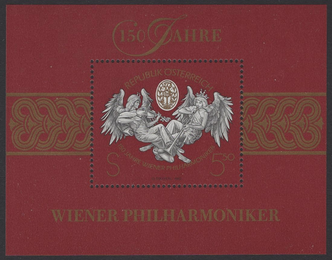 Österreich - Block 011 - postfrisch - 150 Jahre Wiener Philharmoniker