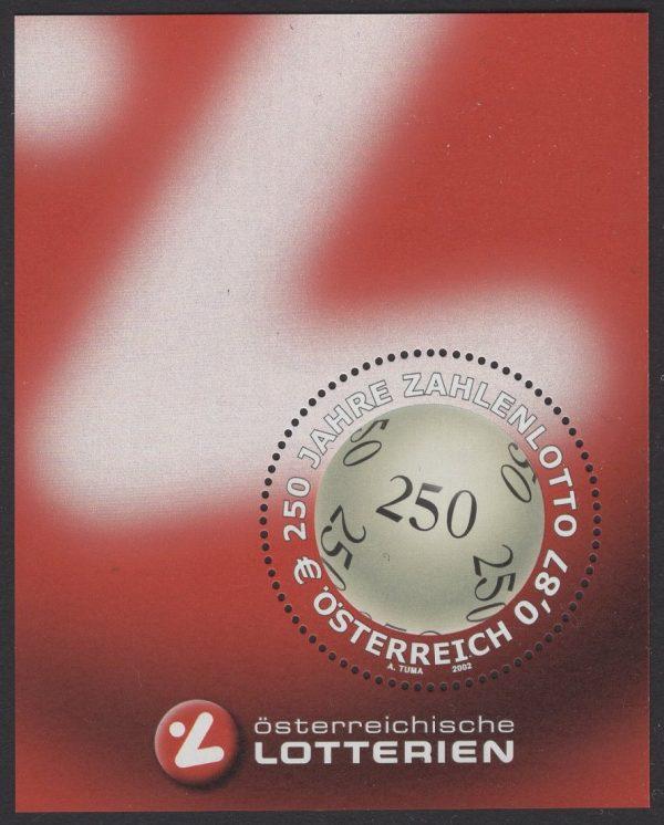 Österreich - Block 017 - postfrisch - 250 Jahre Zahlenlotto