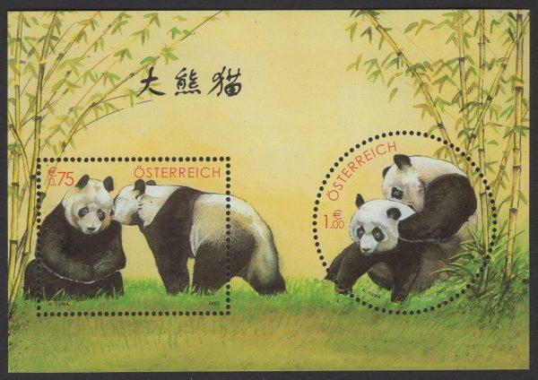 Österreich - Block 018 - postfrisch - Panda Forschung