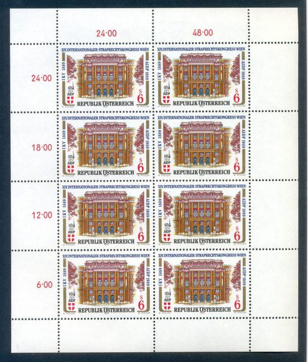 Österreich - postfrisch - Kleinbogen - Mi1971 - Internationaler Strafrechtskongress