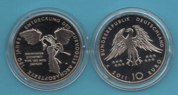 2011-4- 10€ Entdeckung des Urvogels in K-N