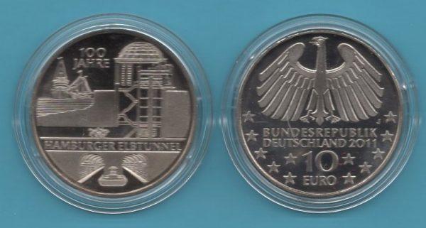 2011-5- 10€ Hamburger Elbtunnel in K-N