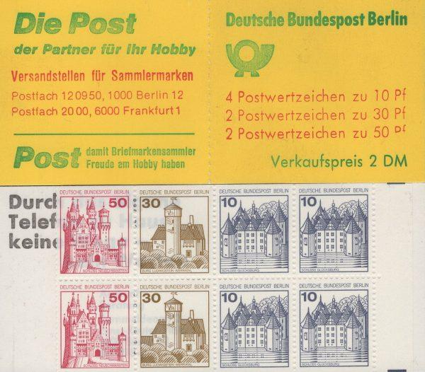 Berlin MH 10a I oZ Burgen und Schlösser, mit engem Durchstich