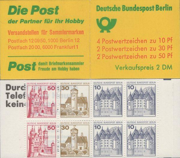 Berlin MH 10a II oZ Burgen und Schlösser, mit weitem Durchstich
