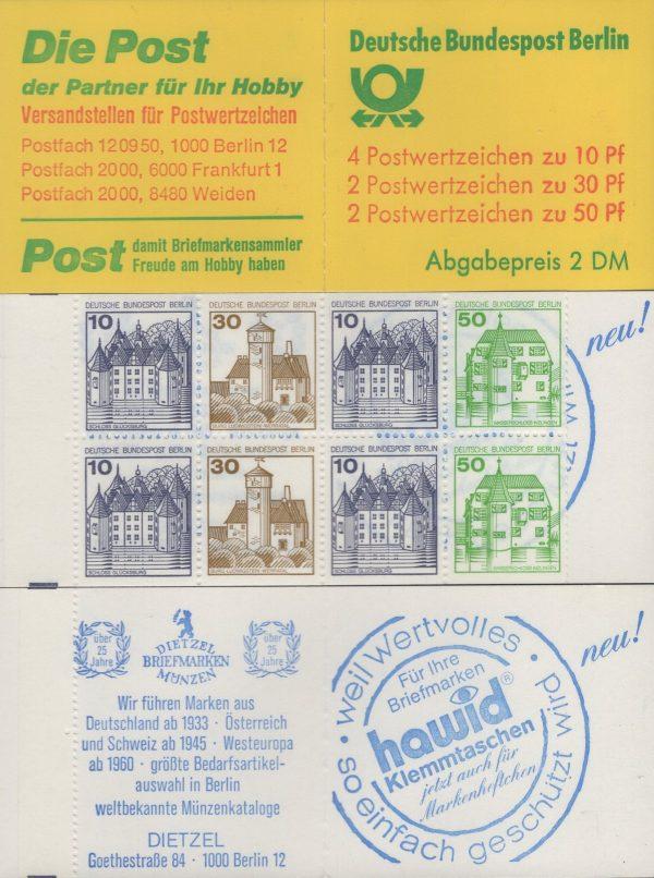 Berlin MH 11f oZ Burgen und Schlösser 1980