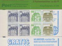 Berlin MH 13 a oZ 2. Deckelseite, Gratis Burgen und Schlösser