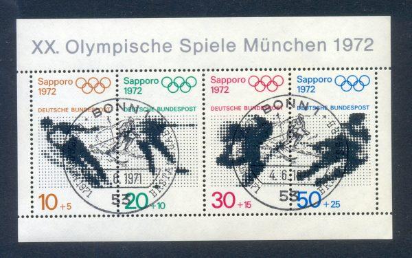 Bund Block 006 Olympische Spiele 1972