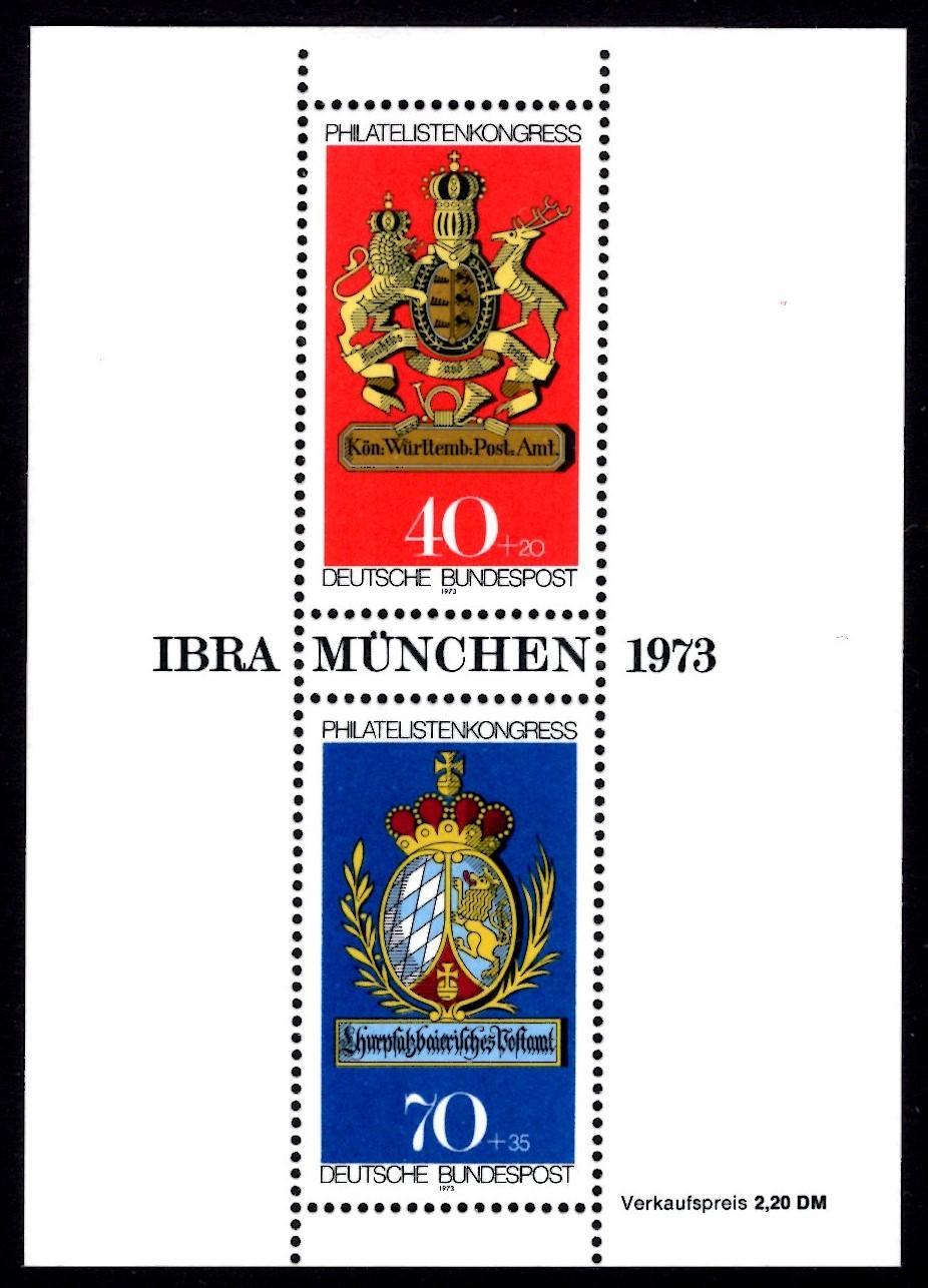 Bund Block 009 Ibra München postfrisch