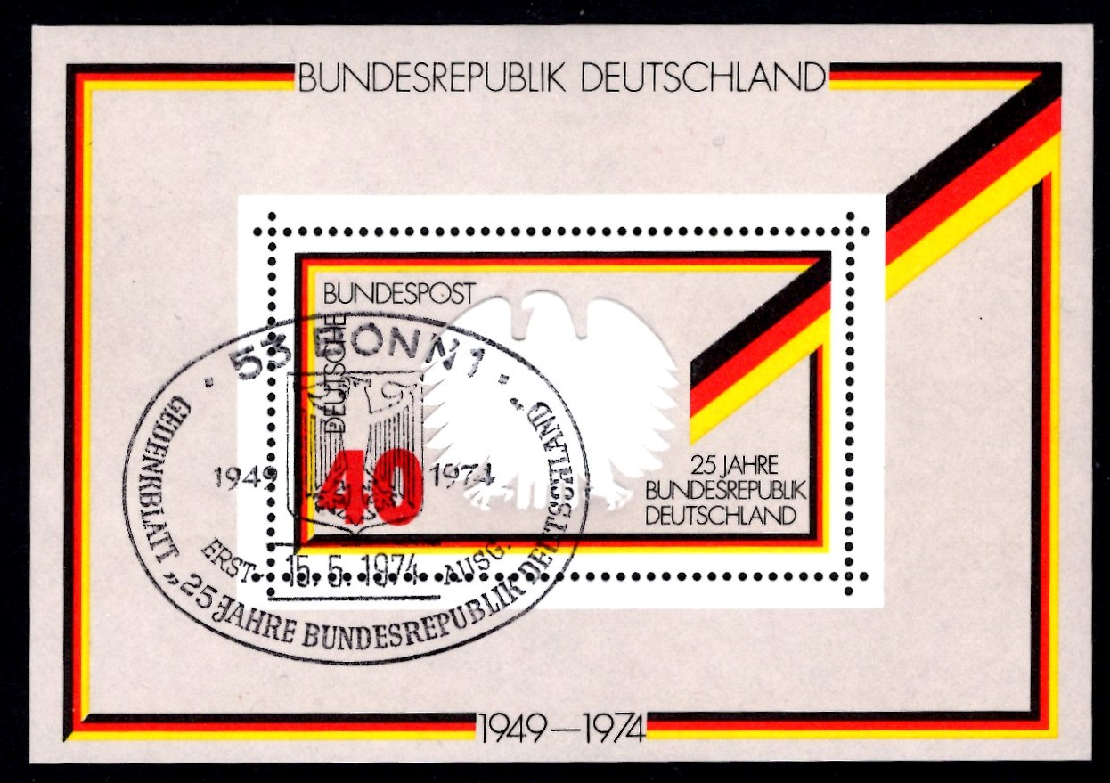 Bund Block 010 25 Jahre Bundesrepublik