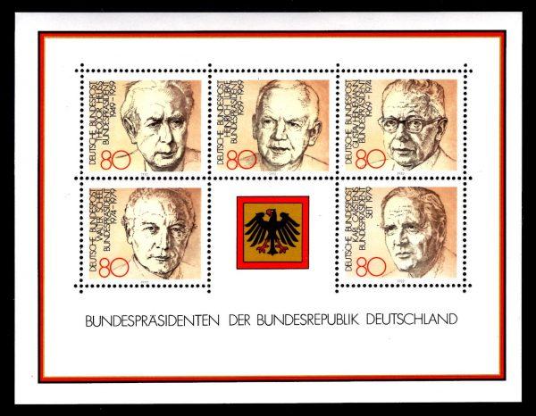 Bund Block 018 Bundespräsidenten postfrisch