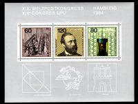 Bund Block 019 Weltpostkongress postfrisch