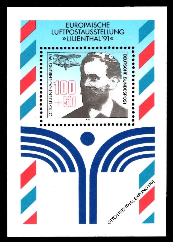 Bund Block 024 Lilienthal 1991 postfrisch