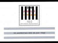 Bund Block 029 50 Jahrestag 020 Juli 1944 postfrisch
