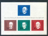Bund Block 04 Adenauer postfrisch