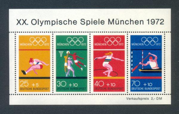 Bund Block 08 Olympische Spiele München postfrisch