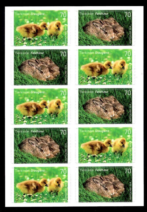 FBL 055 Tierkinder Feldhase-Graugans