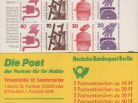 MH 09 c I oZ Unfallverhütung 2. Deckelseite Wichige Postgebühren1974