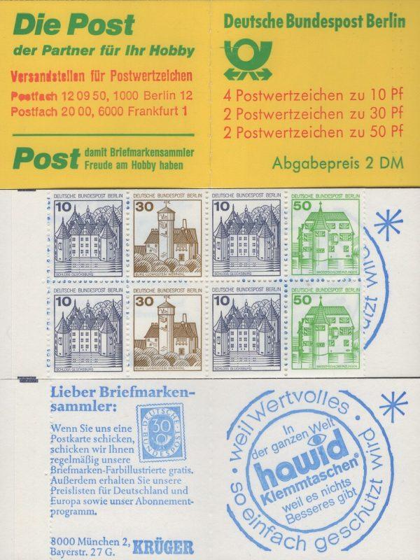 MH 11 b oZ Burgen und Schlösser 1980