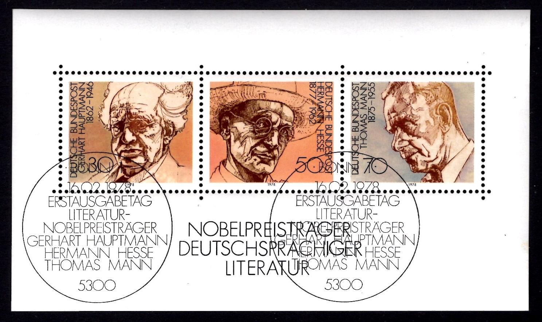 Bund Block 016 Nobel-Preisträger Literatur