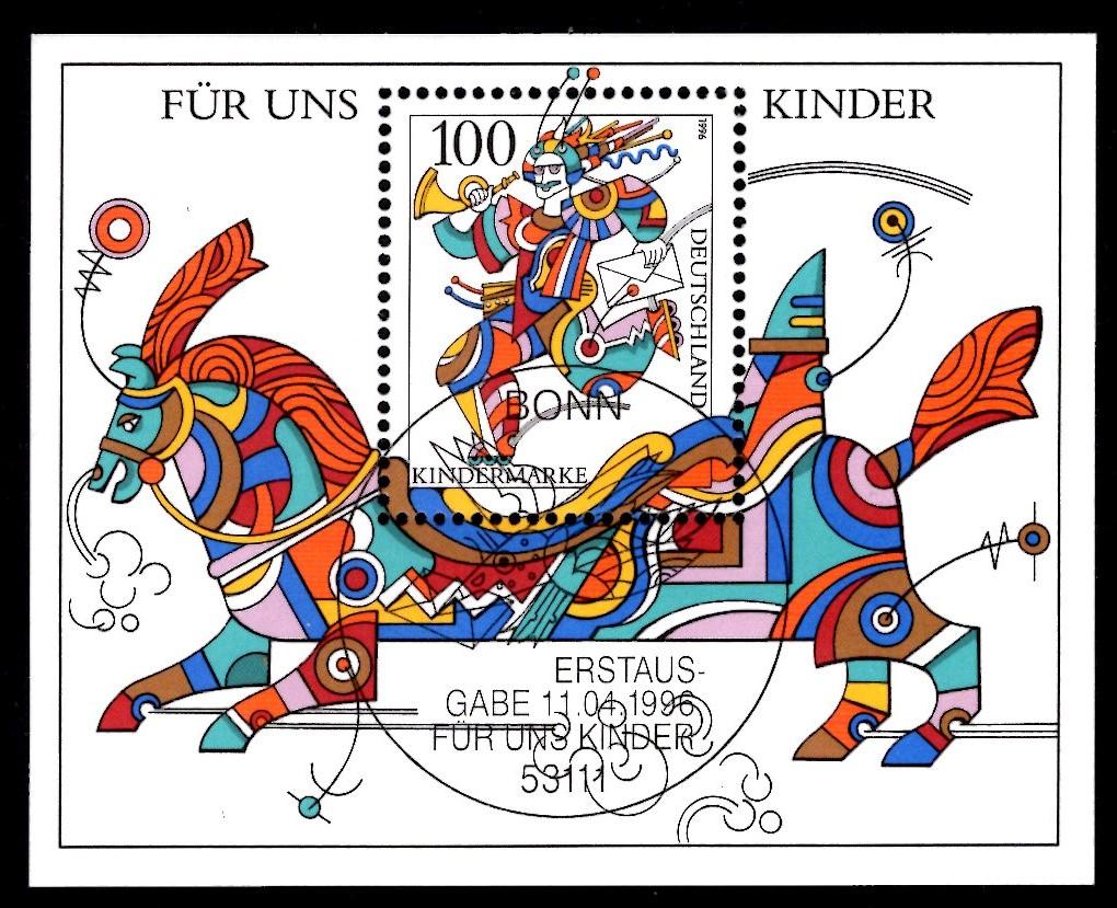 Bund Block 035 Für uns Kinder 1996