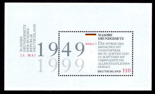Bund Block 048 50 Jahre Grundgesetz
