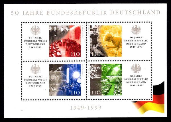 Bund Block 049 50 Jahre Bundesrepublik