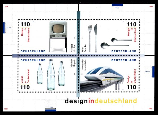 Bund Block 050 Design in Deutschland