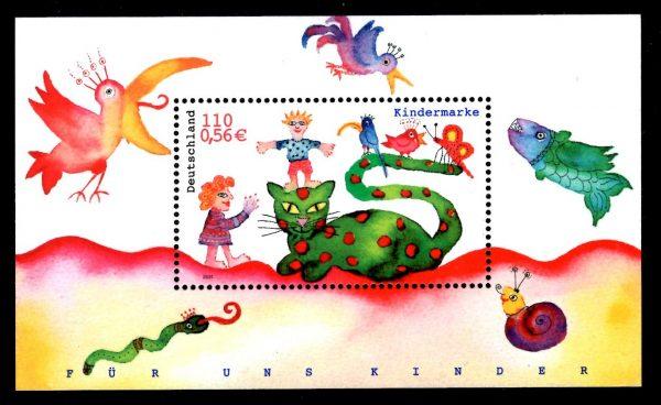 Bund Block 055 Für uns Kinder 2001