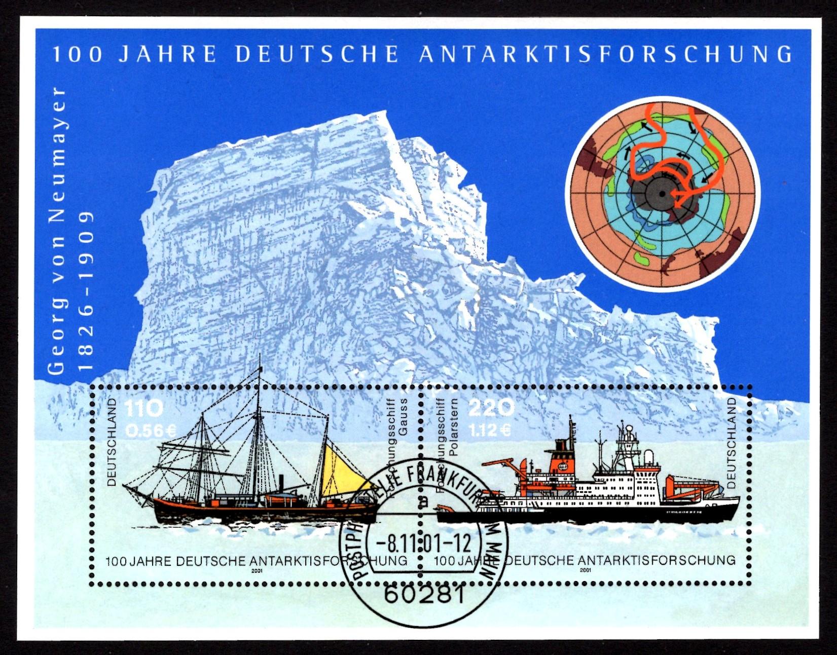 Bund Block 057 00 Jahre Antarktisforschung