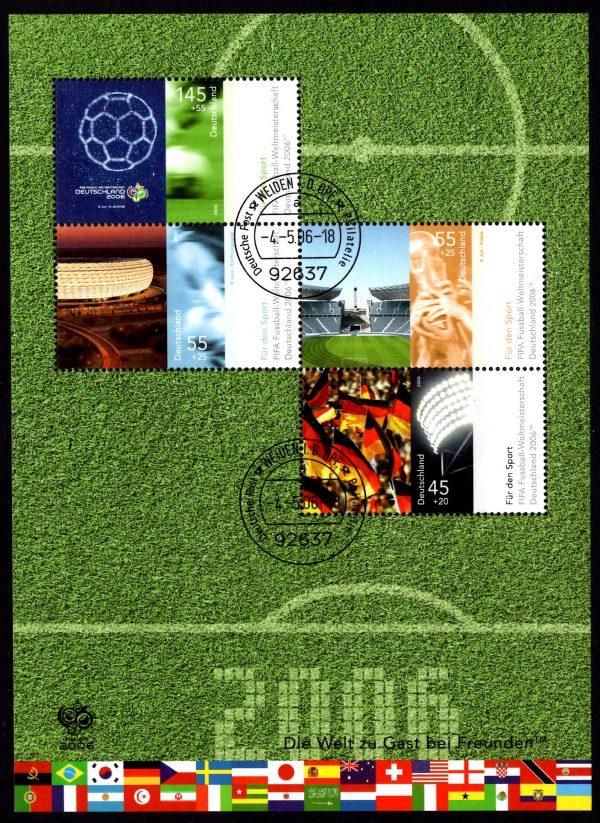 Bund Block 067 Fußballweltmeisterschaft