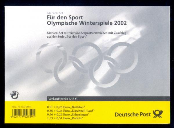 MH 047 Olympische Winterspiele 2002 postfrisch