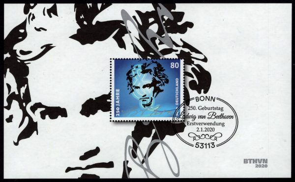 Bund - Block 085 - gestempelt - 250.Geburtstag Beethoven