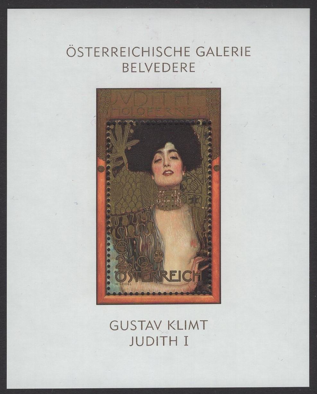 Österreich - Block 022 - postfrisch - Österreichische Gemälde