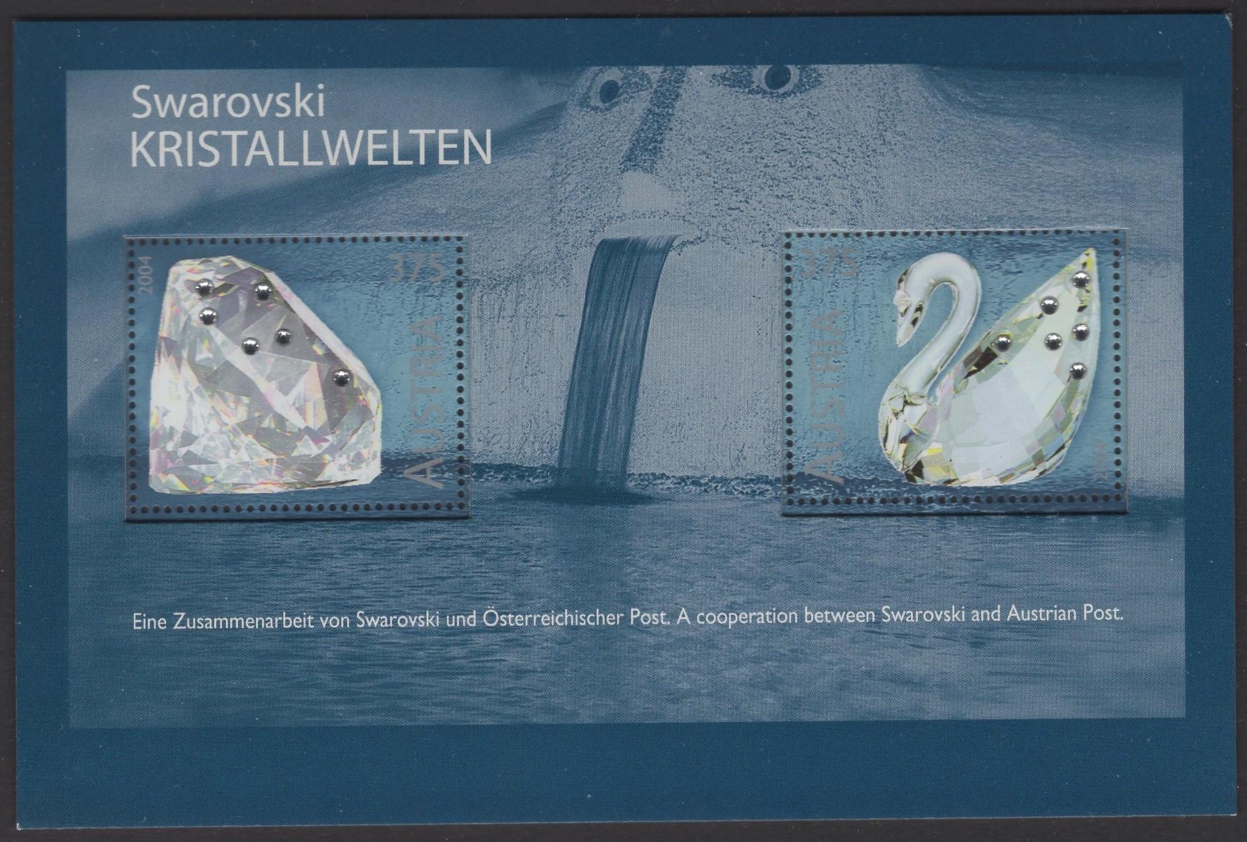 Österreich - Block 025 - postfrisch - Swarowski Kristalle