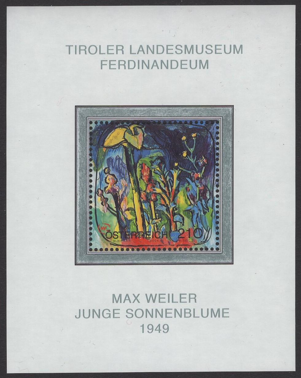 Österreich - Block 026 - postfrisch - Max Weiler Sonnenblume