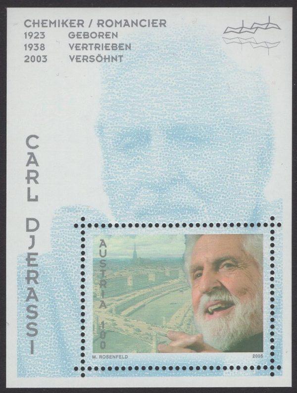Österreich - Block 027 - postfrisch - Carl Djerrassi
